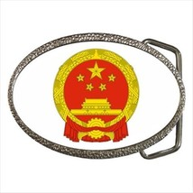 People's Republic of China Coat of Arms Chrome Finished Belt Buckle - $9.96