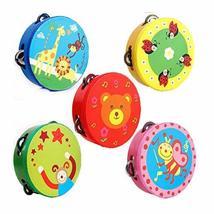 PANDA SUPERSTORE Kids Musical Instruments Toy Tambourine Cute Hand Drum, Baby Gi