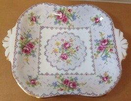 Royal Albert Petit Point Closed Handle Bon Bon Dish Needlepoint Floral E... - $9.46