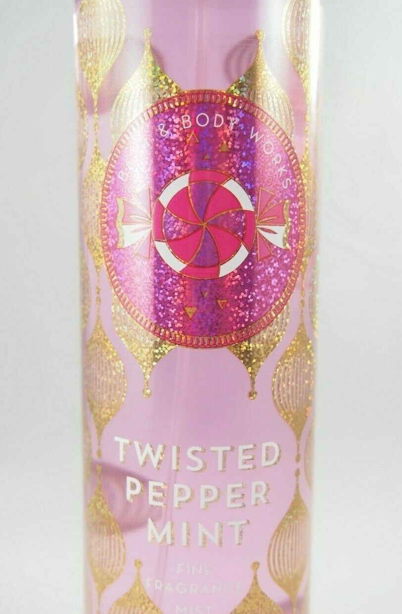 Primary image for (6) Bath & Body Works Twisted Peppermint Fine Fragrance Mist 8oz