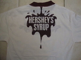 Vintage 70s HERSHEY'S Chocolate Syrup T Shirt M Soft Thin Candy 50/50 Ri... - $44.06