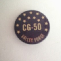 Vintage VALLEY FORGE C G - 50  Button Pin Back w/ Stars Purple Beige 1.5... - $6.69