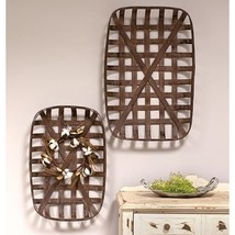 Tobacco Baskets Rectangle ~ Farmhouse Primitive Country Baskets ~Se T Of 2~ - $64.95