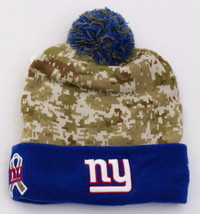 New Era New York Giants Knit Cuff Pom Pom Beanie Skull Cap Men's One Size NEW - $25.98