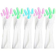 5 Pairs Dish Washing Gloves Waterproof Gloves Cleaning Gloves Random Color - $21.50