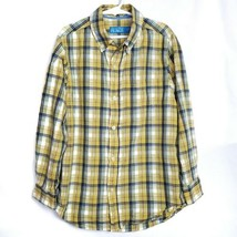 Childrens Place Boys Shirt M 7 8 Yellow Plaid Long Sleeve Button Front E... - $9.99