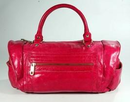 Rebecca Minkoff Hot Pink Megenta Distressed Leather & Gold Large Shoulder Purse - $177.64
