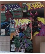 Uncanny X-Men #256 257 259 Marvel Comic Book Lot from 1989-90 VF/VF+ Con... - $13.49