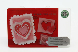 Starbucks Coffee 2010 Gift Card Valentine Hearts Red Pink Zero Balance N... - $11.27