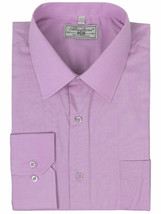 Boltini Italy Men's Long Sleeve Solid Regular Fit Lilac Dress Shirt - XL image 1