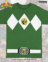 Mighty Morphin Power Rangers Grün Ranger Halloween Kostüm Superheld T-Shirt - $20.89+