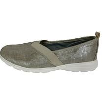 Lands End Comfort Step Shoes Womens Size 7D Slip On Shimmer beige - $21.60