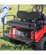 Rear Flip Seat Kit For Club Car DS Golf Cart In Colors Black White Buff ... - $284.99