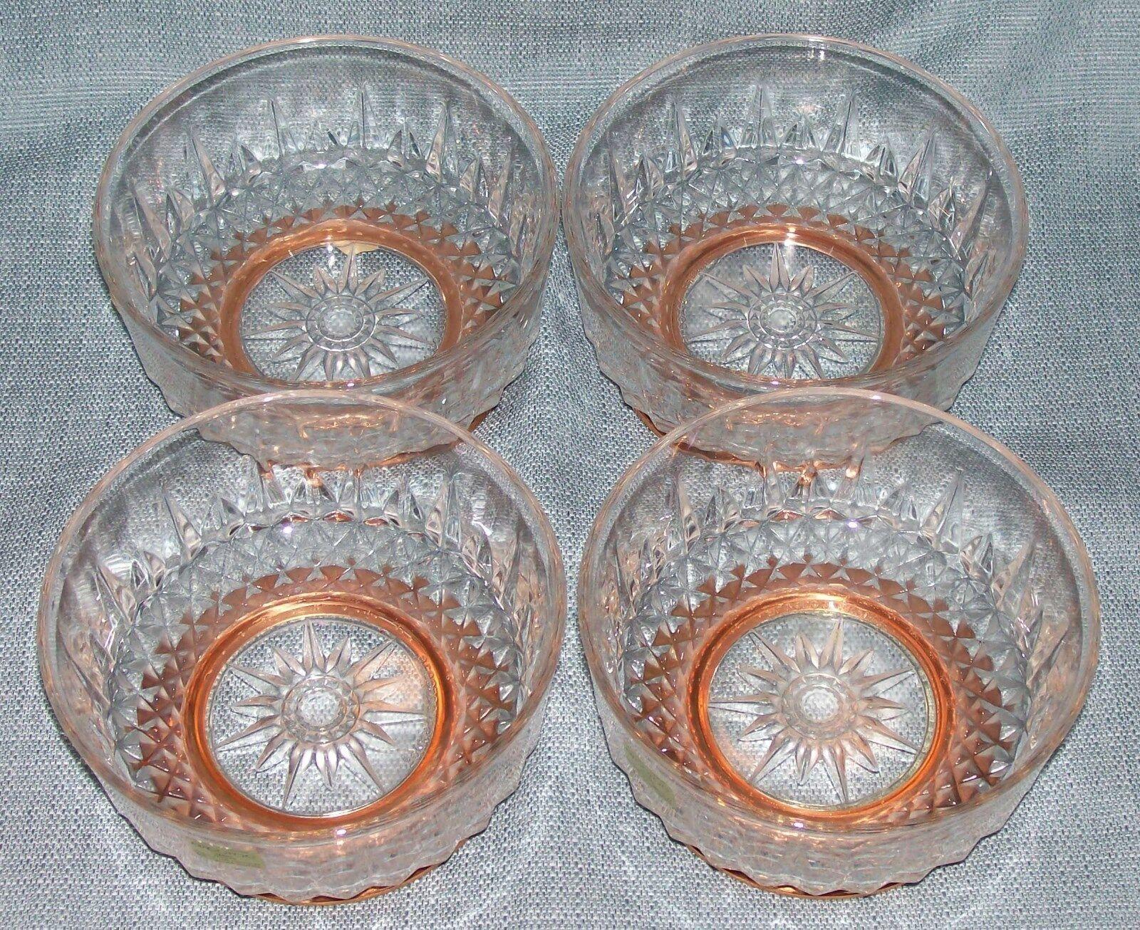 "Arcoroc CopperCraft Guild- Diamant Salad /dessert Bowls- 5"" Copper Bases-NWT image 3"