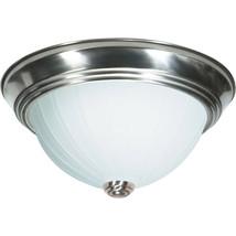"Nuvo Lighting 60-447 Signature 2 Light 13"" Brushed Nickel Flush Mount Light - $17.77"