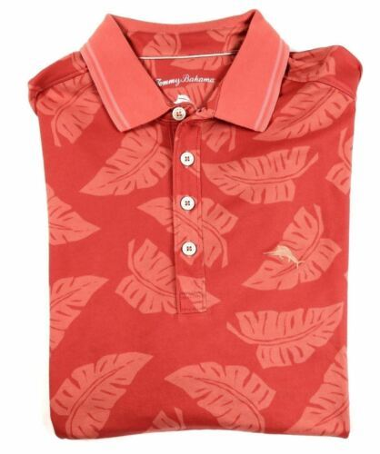 Medium Men's Tommy Bahama Palm Pro Polo Shirt Leisure Tech Licensed Fusion NEW