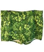 Vtg Mens Green Hibiscus Hawaiian Swim Trunks Bathing Suit Front Pocket  - $34.65