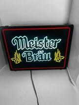 Meister Brau vintage Neon Lighted Beer Bar Sign - $111.27
