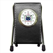 Samoa Coat Of Arms Leather Pen Holder Desk Cloc... - $16.98