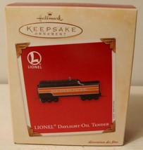 Lionel Daylight Oil Tender Hallmark Keepsake Ornament & Box 2005 Memory Card