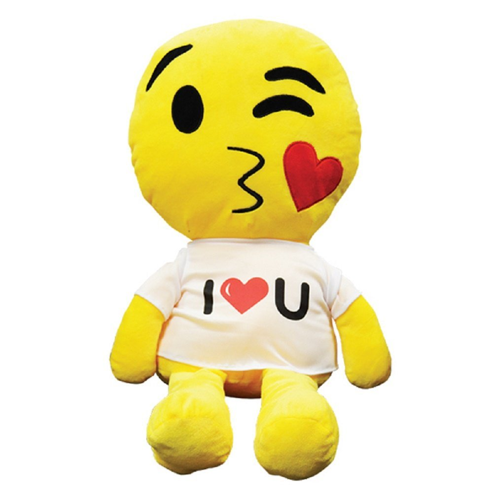 "Giant plush emoji pals with assorted faces - 24"" one item with random design ..."