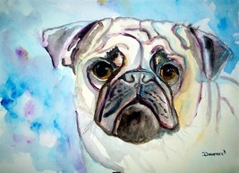 ORIGINAL ACEO Pug Dog Print -: rdoward fine art - $5.94