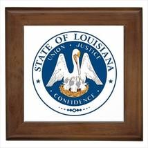Seal Of Louisiana USA Wall Tile Art (Home Decor) - Heraldic Tabard Design - $12.54