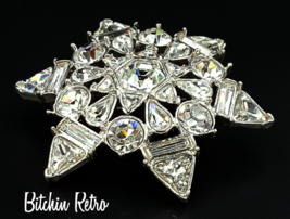 Monet Vintage Rhinestone Brooch with Sparkling Bridal Style   - $32.00