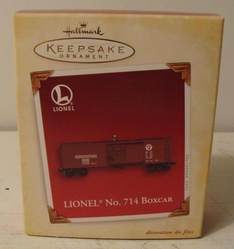 Lionel No 714 Boxcar Hallmark Keepsake Ornament & Box 2005 Memory Card