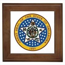 Seal Of Oklahoma USA Wall Tile Art (Home Decor) - Heraldic Tabard Design - $12.54