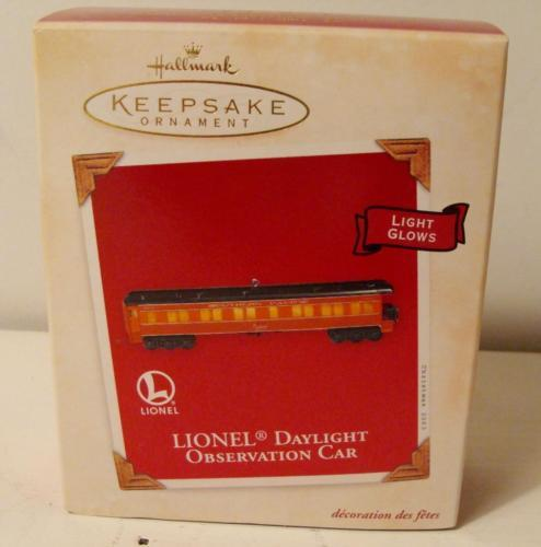 Lionel Daylight Observation Car Hallmark Keepsake Ornament & Box 2003 Light