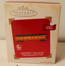 Lionel Daylight Observation Car Hallmark Keepsake Ornament & Box 2003 Light