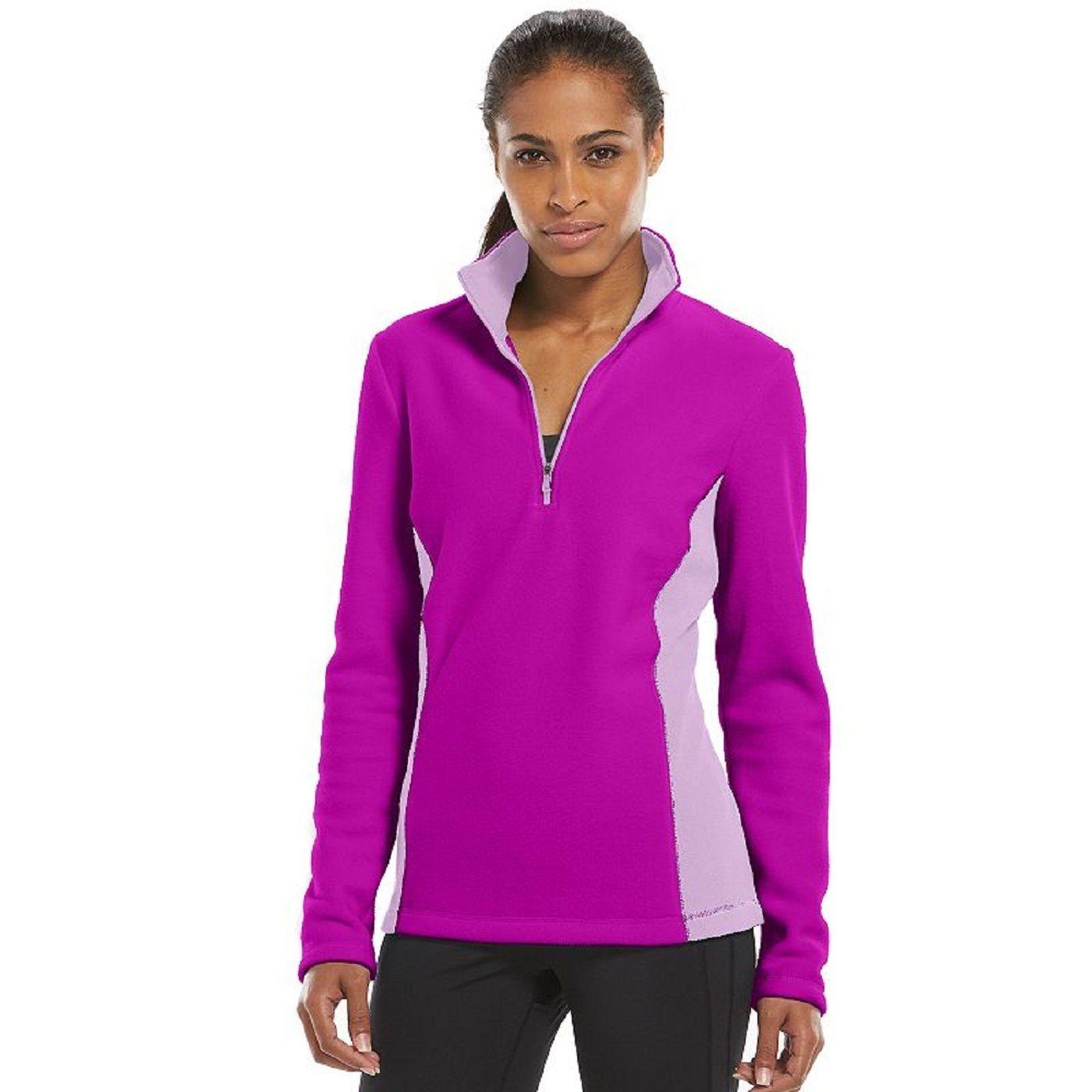 195ac6a04a0f Tek Gear Berry Lavender Quarter Zip MicroFleece Jacket Size XS Fashion New  Nwt -  12.82