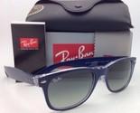 RAY-BAN Sunglasses RB 2132 6053/71 52-18 NEW WAYFARER Blue-Clear Frame/Grey Fade