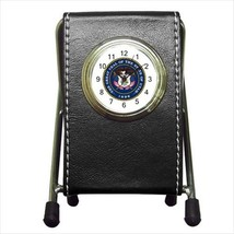 Seal Of Utah United States Leather Pen Holder Desk Clock - Heraldic Surcoa - $16.98