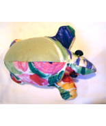 New Handmade Stuffed  Floral and White Turtle - $12.99