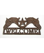 CAST IRON Horses and Star Welcome Sign Western Decor - $26.72