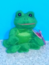 Avon 1999 plush beanie  collectible full of beans tree frog - $8.50
