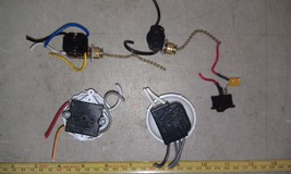 8 Z77 Electrical Switch Asst: (2) Rotary, (2) Pull Chain, (1) Rocker, Good Cond - $9.66