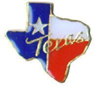 12 Pins - SHAPE OF TEXAS FLAG COLORS MAP state pin 746
