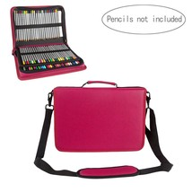 Samaz 160 Slots Pencil Case for Colored Pencils (Rose Red) - $27.99