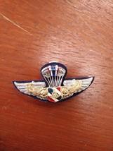 Jump Parachute small METAL WING Royal Thai Airforce Metal Badge Branch Insignia - $2.97