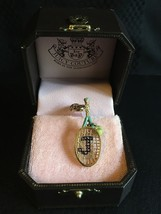 Juicy Couture Tennis Racket & Ball Aqua Bracelet Charm New YJRU2847 - $99.95