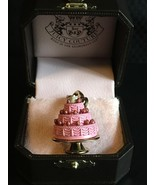 New Juicy Couture PINK 3 TIERED Layer CAKE w/ berries Gold Charm - $49.45