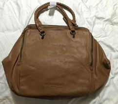 NWT! Liebeskind Berlin Kayla A Leather Satchel/Shoulder Bag, Light Cogna... - $191.04