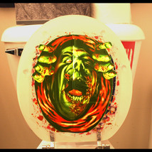 Haunted House Blood Monster-ZOMBIE GHOUL TOILET COVER-Halloween Party De... - $2.94