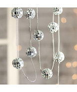 "5-foot Garland of 12 Mirror DISCO Balls 7/8"" Mi... - $6.09"