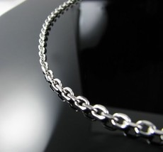 """Stainless Steel 4mm Cable Link Chain Necklace 18,20,22"""" - €25,29 EUR"""