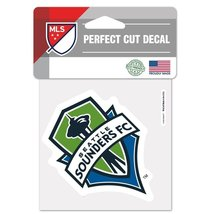Seattle Sounders Official MLS 4x4 Perfect Cut Car Decal by Wincraft 550736 - $9.89