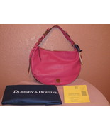 NWT Dooney and Bourke Hot Pink leather Large Luna Hobo - $150.00